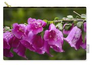 Hot Pink Foxglove Carry-all Pouch