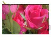 Hot Pink Rose Carry-all Pouch