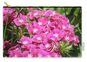 Hot Pink Sweet William Flowers In A Garden Blooming Carry-all Pouch