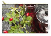 Hot Rosehip Tea In Glass Carry-all Pouch