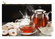 Hot Steaming Tea With Christmas Biscuits Carry-all Pouch