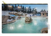 Hot Tubs And Ingound Heated Pool At A Mountain Village In Winter Carry-all Pouch