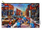 Hotel De Ville Montreal Hockey Street Scene Carry-all Pouch