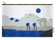 Hoth Star Wars Scene Panorama Made Using Vintage Recycled License Plates On White Wood Plank Carry-all Pouch