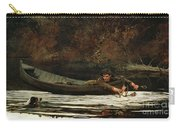 Hound And Hunter Carry-all Pouch by Winslow Homer