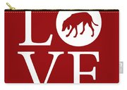 Hound Dog Love Red Carry-all Pouch