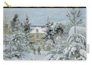 House At Montfoucault Carry-all Pouch by Camille Pissarro