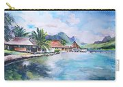 House By The Lagoon In French Polynesia Carry-all Pouch