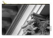 House Column Black And White Carry-all Pouch