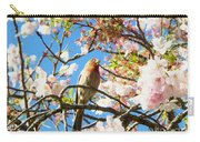 House Finch In The Cherry Blossoms Carry-all Pouch