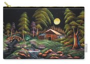 House In Night At Beautiful Site Carry-all Pouch