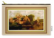 House Near The River. L B With Decorative Ornate Printed Frame. Carry-all Pouch