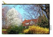 House On The Hill In Spring Carry-all Pouch