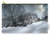 House On The Hill Winters In Vermont Carry-all Pouch