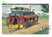 House On Wheels, 1900s French Postcard Carry-all Pouch