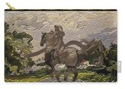 House Statue In The Field Carry-all Pouch