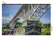 Houseboat And Aurora Bridge Seattle Carry-all Pouch
