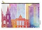 Houston Landmarks Watercolor Poster Carry-all Pouch