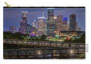 Houston Skyline Over Buffalo Bayou At Twilight Carry-all Pouch