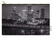 Houston Skyline With Rosemont Bridge In Bw Carry-all Pouch