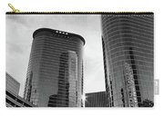 Houston Skyscrapers Black And White Carry-all Pouch