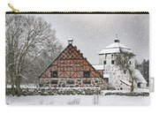 Hovdala Castle Gatehouse And Stables In Winter Carry-all Pouch