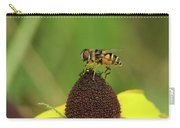 Hoverfly On Brown Eyed Susan Carry-all Pouch
