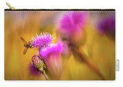Hoverfly Thistle #g7 Carry-all Pouch