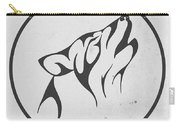 Howling Wolf Art - Fool Moon Wolf Lovers Prints Carry-all Pouch