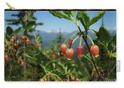 Huckleberry Flowers Atop Huckleberry Mountain In Glacier National Park Montana Carry-all Pouch