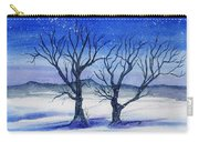 Huddled On A Snowy Field.  Carry-all Pouch