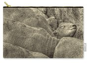 Huddled Yearling Rams Carry-all Pouch