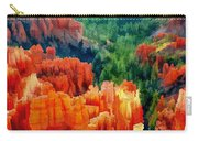 Hues Of The Hoodoos In Bryce Canyon National Park Carry-all Pouch