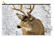 Huge Buck Deer In The Snowy Woods Carry-all Pouch