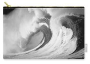Huge Curling Wave - Bw Carry-all Pouch