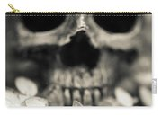 Human Skull Among Flowers Carry-all Pouch