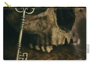 Human Skull With Vintage Key Carry-all Pouch