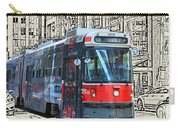 Humber Bound Streetcar On Queen Street Carry-all Pouch