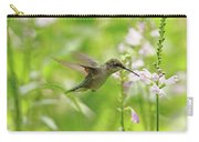 Hummer And Obedient Plant Carry-all Pouch
