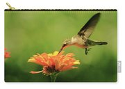 Hummer And Zinnia Carry-all Pouch