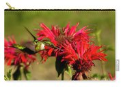 Hummer In The Bee Balm Carry-all Pouch