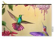 Humming Birds And Fuchsia-jp2784 Carry-all Pouch