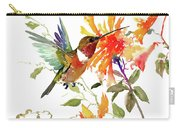 Hummingbird And Orange Flowers Carry-all Pouch