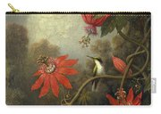 Hummingbird And Passionflowers Carry-all Pouch