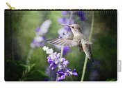 Hummingbird And Purple Lupine  Carry-all Pouch