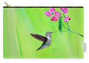 Hummingbird And Sweet Peas Carry-all Pouch