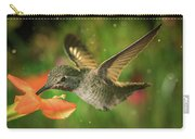 Hummingbird And The Monkey Flowers Carry-all Pouch