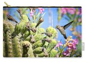Hummingbird And The Saguaro  Carry-all Pouch