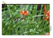 Hummingbird And Tiger Lilly Carry-all Pouch