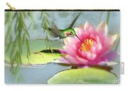 Hummingbird And Water Lily Carry-all Pouch